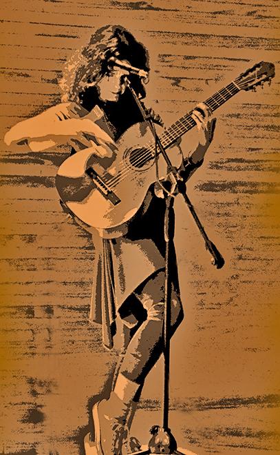 Una cantante, compositora, pianista y productora chilena.