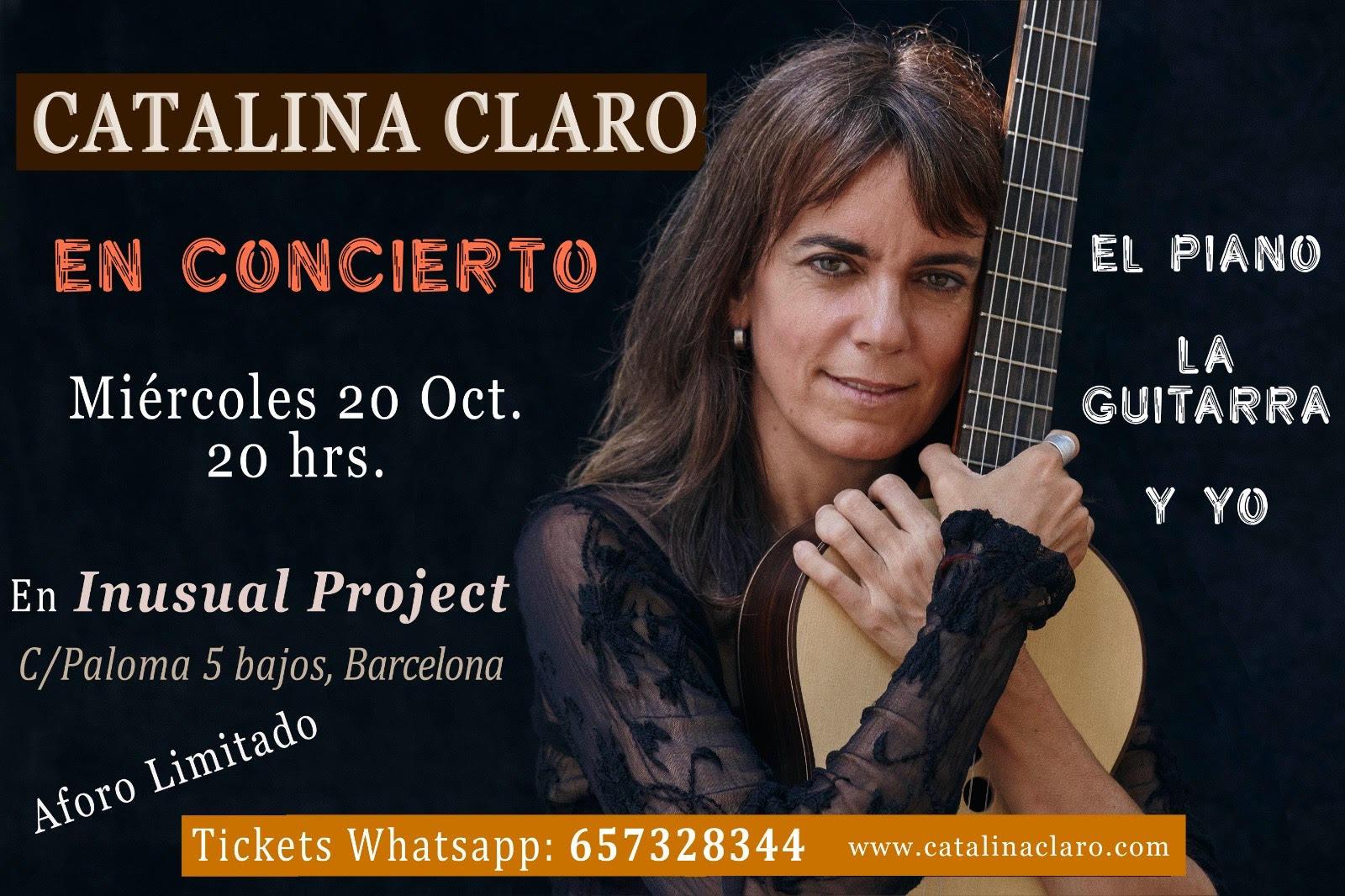 concierto barcelona 20 octubre 2021 catalina claro